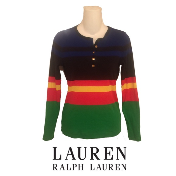 Lauren Ralph Lauren Tops - LAUREN Ralph Lauren Color Block Stripe Henley Top